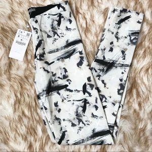 Zara scattered paint leggings